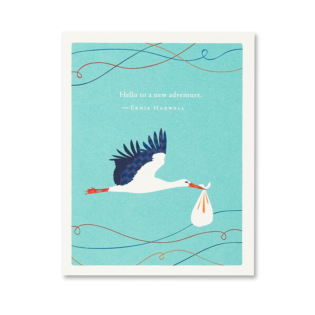 Compendium Greeting Card - Hello to a New Adventure!