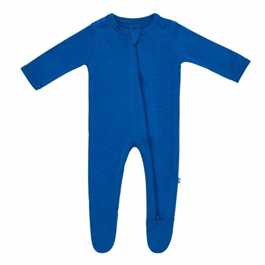 Kyte Baby Kyte Baby Bamboo Zippered Footie - Sapphire