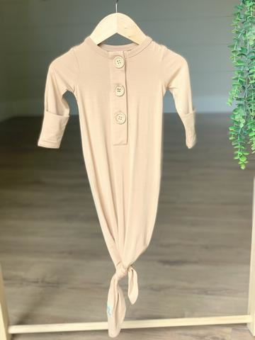 Kozi & Co Bamboo Essentials Knotted Gown (0-3 mo)
