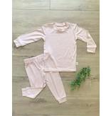 Kozi & Co Bamboo Essentials Long Sleeve PJ Set - Peony Pink