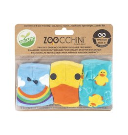 Zoochini Kids Organic Reusable Masks 3-pack (3 year+)