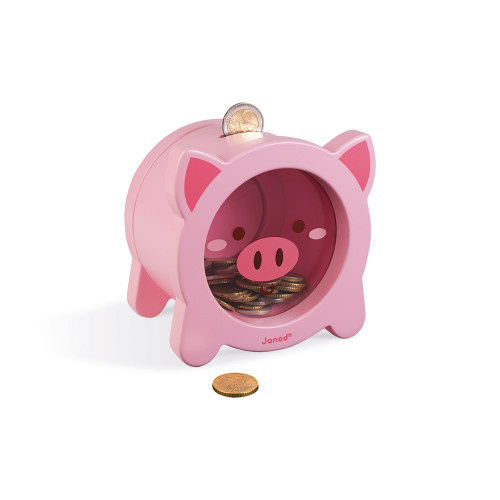 Janod Toys Piggy Wooden MoneyBox