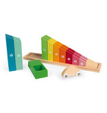 Janod Toys Wooden Counting Rainbow Car Ramp