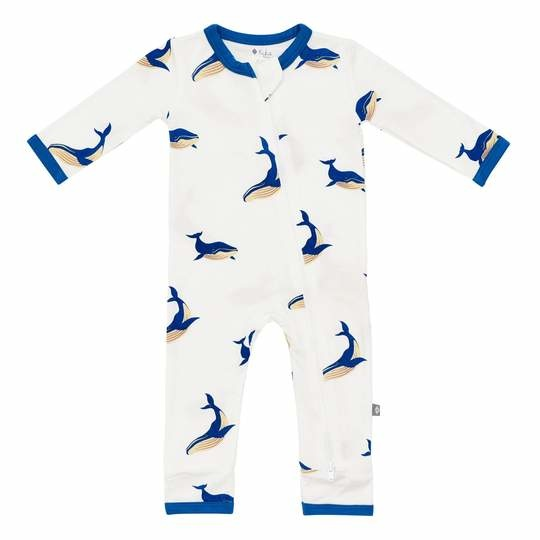 Kyte Baby Kyte Baby Bamboo Zippered Romper - Whale