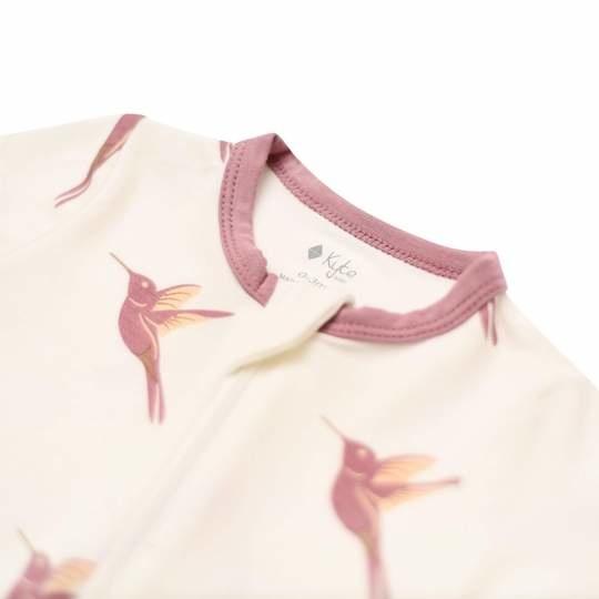 Kyte Baby Kyte Baby Bamboo Zippered Romper - Hummingbird