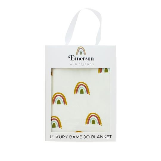 Emerson and Friends Rainbow Baby Luxury Bamboo Blanket