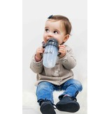 Zoli Bot XL Weighted Straw Sippy Cup - Grey