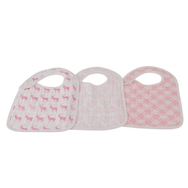 Newcastle Classics Cotton Muslin Snap Bibs (3-pack) - assorted