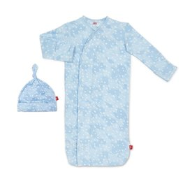 Magnetic Me Magnetic Me Modal Gown & Hat Set - Blue Doeskin (0-3mo)