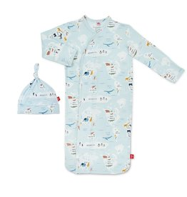 Magnetic Me Magnetic Me Modal Gown & Hat Set - Sea the World (0-3mo)