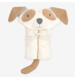 Elegant Baby Baby Bath Wrap Cotton Velour Hooded Towel - Tan Puppy (0-24 mo)