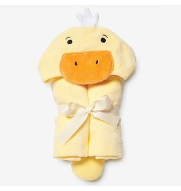 Elegant Baby Baby Bath Wrap Cotton Velour Hooded Towel - Yellow Duckie (0-24 mo)