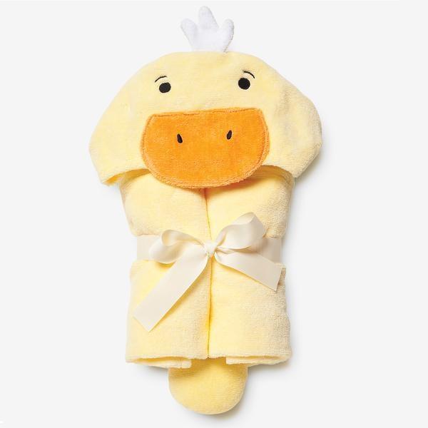 Elegant Baby Baby Bath Wrap Cotton Velour Hooded Towel - Yellow Duckie (0-24 mo)
