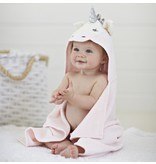 Elegant Baby Baby Bath Wrap Cotton Velour Hooded Towel - Pink Unicorn (0-24 mo)