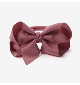 Elegant Baby Mauve Baby Girl Soft Bow Headband