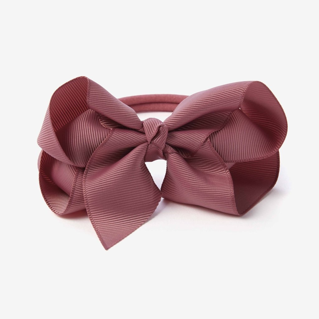 Elegant Baby Mauve Baby Girl Soft Bow Headband