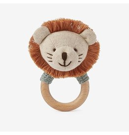 Elegant Baby Leo Lion Wooden Baby Rattle