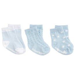 Elegant Baby Baby's First Sock Set - No Slip 3-pack