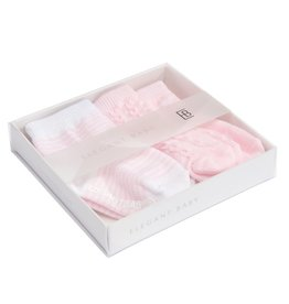 Elegant Baby Baby's First Sock Set  No Slip 3 pack (blue or pink)
