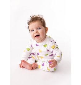 Nola Tawk Mardi Gras Sweet Hearts Organic Cotton Pajama Set