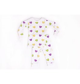 Nola Tawk Mardi Gras Sweet Hearts Organic Cotton Pajama Set