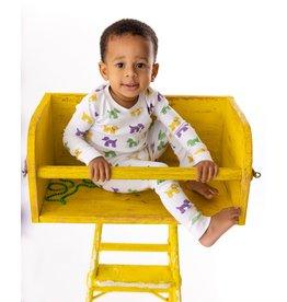 Nola Tawk Mardi Paws Organic Cotton Pajama Set (6m)