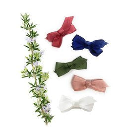 Baby Wisp Snap Clip Bow (Set of 5) - Juniper