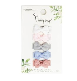 Baby Wisp Snap Clip Bow (Set of 5) - Pixie