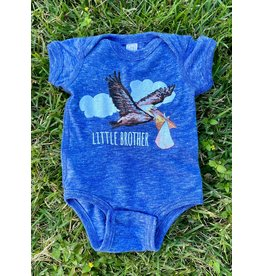Two Sprouts Blue Pelican Little Brother Onesie