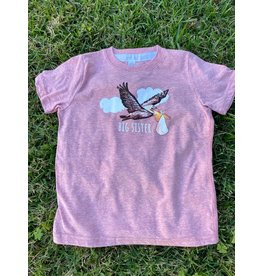 Two Sprouts Pink Pelican Big Sister T-shirt