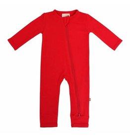 Kyte Baby Kyte Baby Bamboo Zippered Romper - Crimson