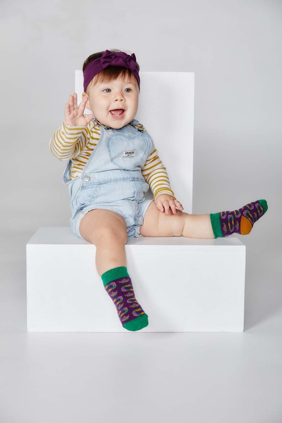 Bonfolk Bonfolk Buy One Give One Socks - Baby King Cake (0-12 mo)