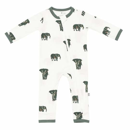 Kyte Baby Kyte Baby Bamboo Zippered Romper - Elephant
