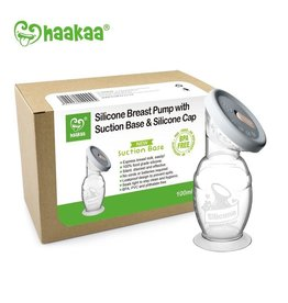 Haakaa Haakaa Silicone Breast Pump with Silicone Cap & Suction Base (5oz)