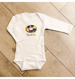 Two Sprouts King Cake Baby Long Sleeve Onesie