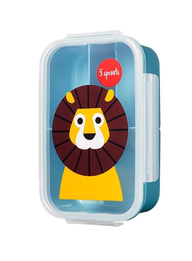 3 Sprouts Animal Bento Box (BPA Free / Microwave-Safe) -
