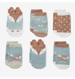 Elegant Baby Fox Non-Slip Baby Socks 6 pk (BOGO)