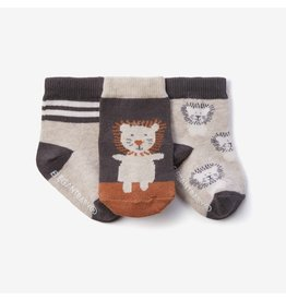 Elegant Baby Lion Non-Slip Cotton Baby Socks 3 pack (0-12 mo)