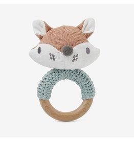 Elegant Baby Felix Fox Wooden Baby Rattle
