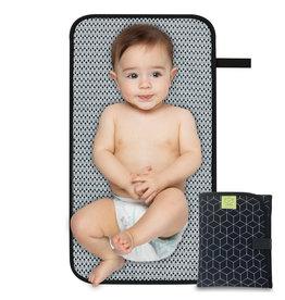 KeaBabies Swift Portable Diaper Changing Pad - black geo