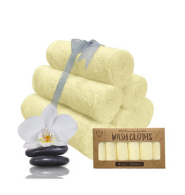 KeaBabies Deluxe Bamboo Baby Washcloth Set (6 pack)