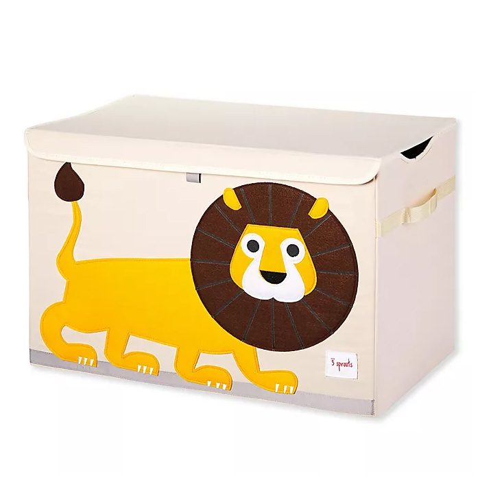 3 Sprouts Lion Toy Chest