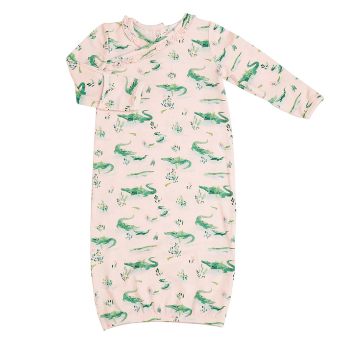 Angel Dear Gators Kimono Gown Pink - 0-3m