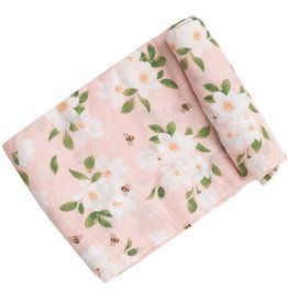 Angel Dear Magnolia Muslin Swaddle Pink