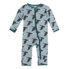 KicKee Pants KicKee Pants Coverall with Zipper - Jade Mallard Duck