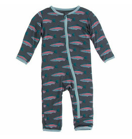 KicKee Pants KicKee Pants Coverall with Zipper - Stone Rainbow Trout