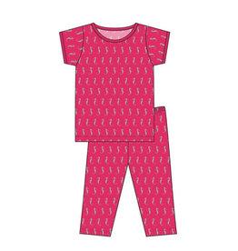 KicKee Pants KicKee Pants Short Sleeve PJ Set - Prickly Pear Mini Seahorses