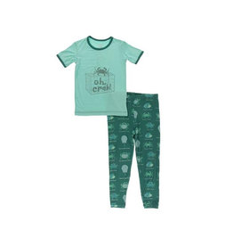 KicKee Pants KicKee Pants Short Sleeve PJ Set - Cedar Crab Types