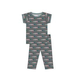 KicKee Pants KicKee Paints Short Sleeve PJ Set - Stone Rainbow Trout