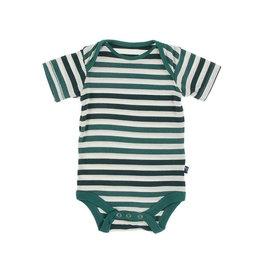KicKee Pants KicKee Pants Short Sleeve Onesie - Wildlife Stripe